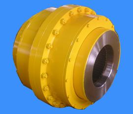 Drum gear coupling for crane
